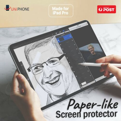 "Paper-Like Screen Protector PET iPad Air 4 Pro 2020 2018 10.9"" 12.9 11 10.5 10.2 <br/> 📝Feel Like Paper✏️Made for Apple Pencil 🌞Anti Glaring"