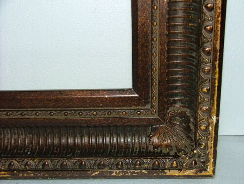 "FRAME MASSIVE FRENCH BAROQUE OGEE COVE APPLIED ORNAMENT FITS  30"" x 40"" WOOD"