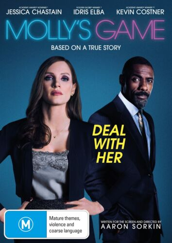 Mollys Game DVD Region 4 NEW