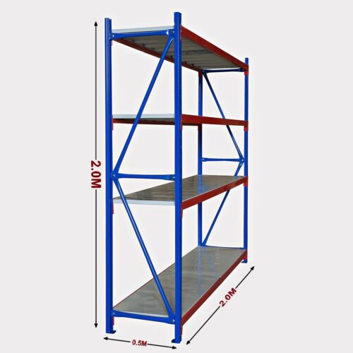 New 2M Warehouse Garage Metal Steel Storage Shelving Racking Bolted Range <br/> Free Pick Up, 2 Years Warranty, Strong and Durable Rack