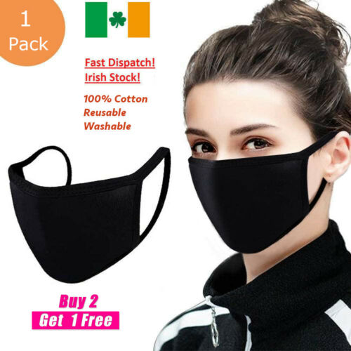 Face Mask Covering Washable and Reusable 100% Cotton Unisex <br/> Irish Stock✅ Fast Dispatch✅Premium Quality