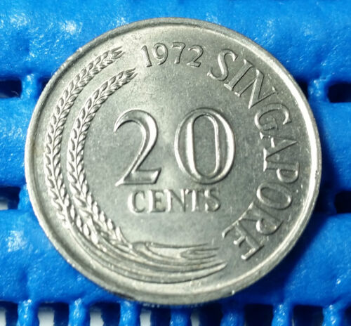 1972 Singapore 20 Cents Sword Fish Coin