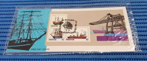 1972 Singapore First Day Cover Shipping Series Miniature Sheet Commemorative FDC