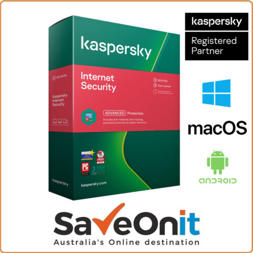Kaspersky Internet Security 2020 3 Device 2 Year Win Mac Android Email license