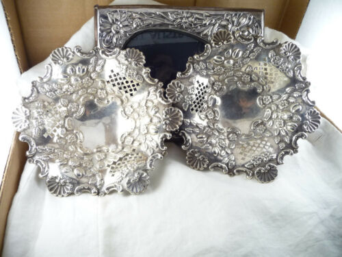 Antique Pair HMSS Pierced Reticulated Hardy Bros Bon Bon Dishes : Chester 1902