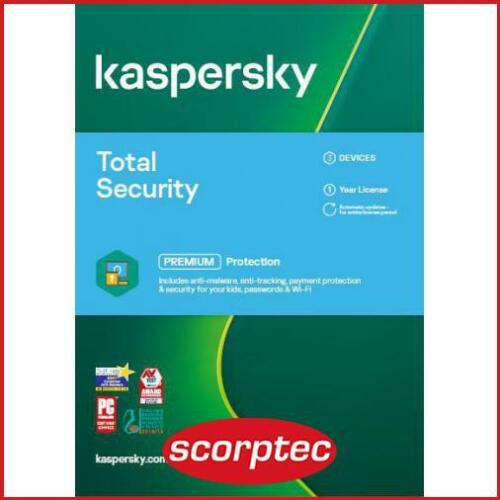 Kaspersky Total Security KL1949EOCFS 3 Device 1 Year Retail Card