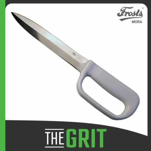 """Frosts Mora 144-PSG Butcher Sticking Knife 175mm - 7"""" w/ White Handle"""