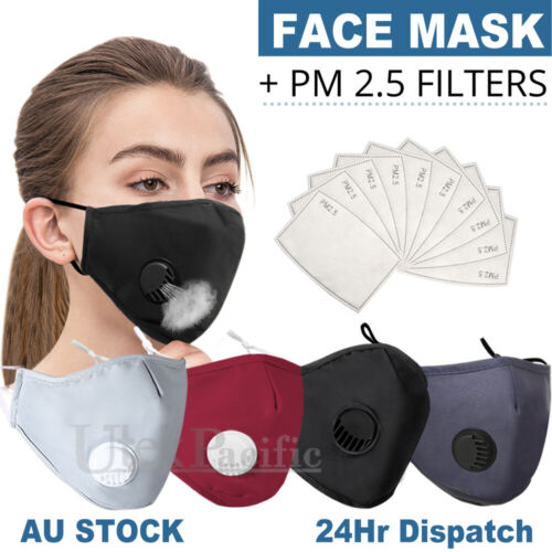 Washable Face Mask Anti Pollution  Masks Reusable Respirator PM 2.5 Filter