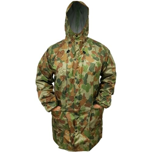 TACTICAL AUSCAM DPCU SIZE XXLARGE RAIN JACKET 100% WATERPROOF TAPED SEAMSModern, Current - 36066