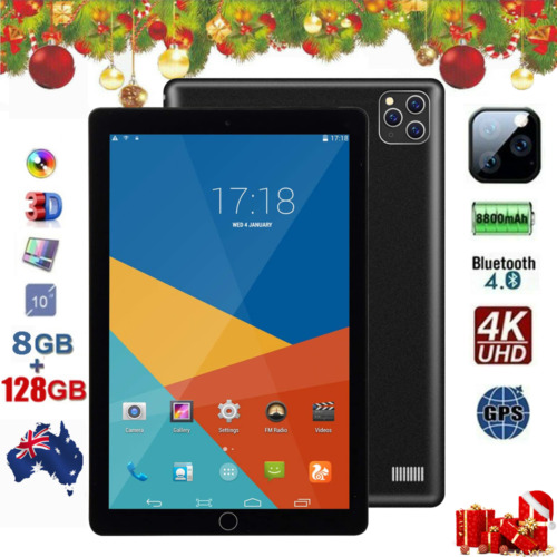 10.1 Inch Android 8.0 Bluetooth Tablet PC 6+128GB WiFi 1080P Triple Camera GPS