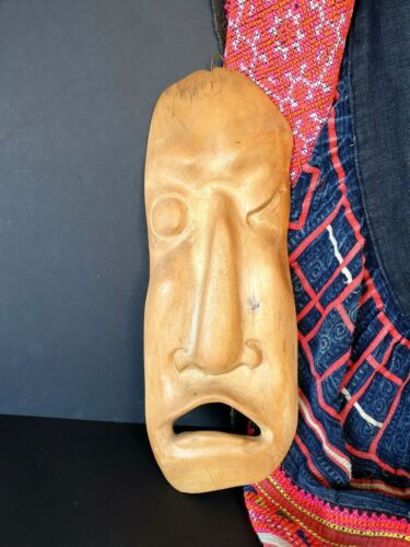 Old Japanese Carved Wooden Mask …beautiful collection and display item