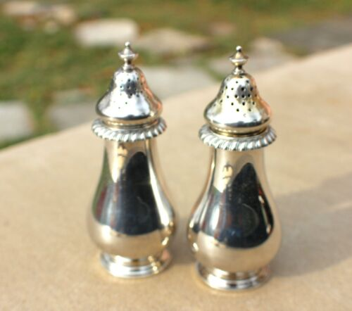 English Gadroon by Gorham Sterling Silver Salt and Pepper Shakers SOLID c.1930's