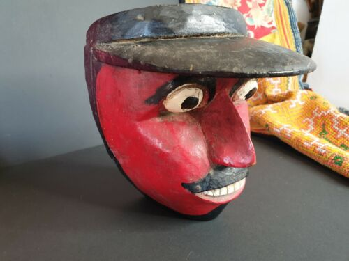 Old Balinese Carved Wooden Dance Mask …wonderful collection item