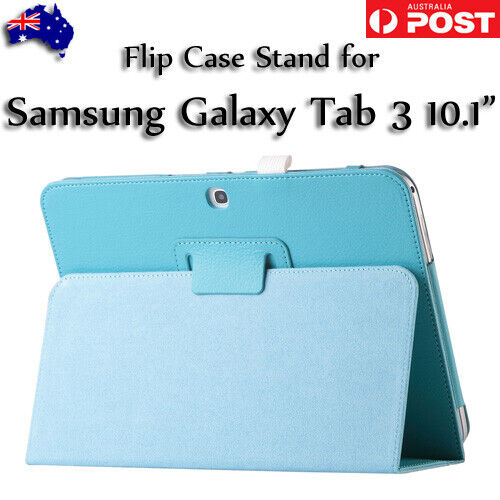 """Magnetic PU Leather Protective Stand Flip Case Folio Samsung Galaxy Tab 3 10.1"""""""