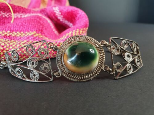 Old Tibetan Cat Eye Bracelet …beautiful collection & accent piece