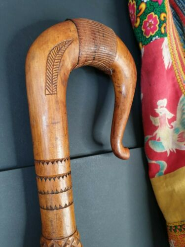 Old Papua New Guinea Trobriand Islands Carved Walking Stick  …beautiful collecti