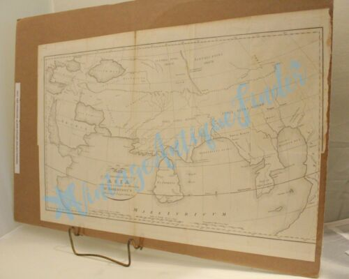 ORIGINAL ANTIQUE MAP 1790 SOUTHEAST PART OF ASIA ACCORDING TO PTOLEMY DR. ROBERT