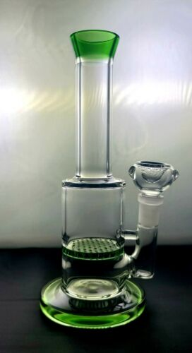 "Glass Water Pipe smoking  Bong 8"" thick Hookah HONEYCOMB - Fast shipping"