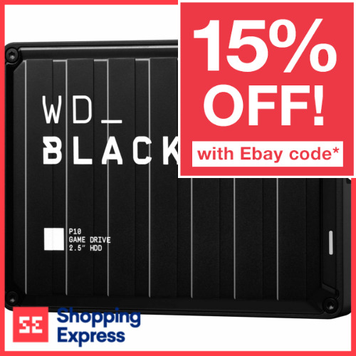 WD 2TB 4TB 5TB Black P10 Game Drive PS4 Xbox One PC Mac Portable Hard Drive