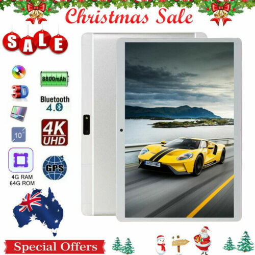 """10.1"""" Android Tablet PC Octa-Core 4GB 64GB IPS HD WiFi Tablets Dual Camera GPS"""