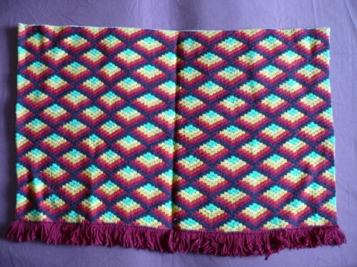 Beautiful Vintage Bargello Embroidery Tapestry 78cm/53cm(31''x 21'')  #1974