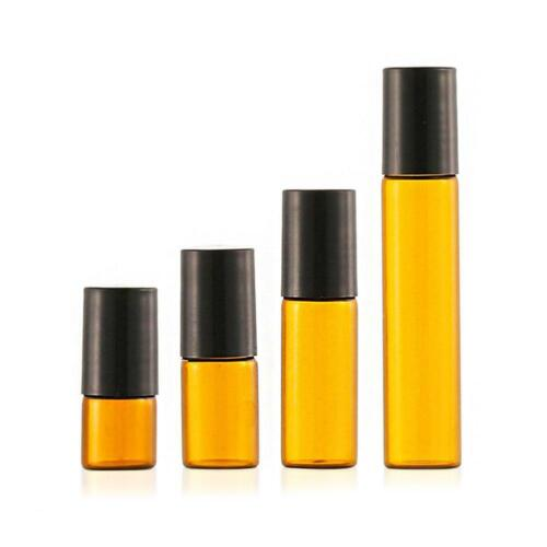 2/3/5/10ml Amber Roll On Roller Bottle Essential Oils Perfume Bottle Au S2t0