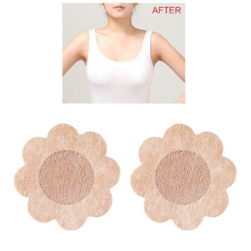 Disposable Nipple Cover Up Petal Round Breast Tape D3c4