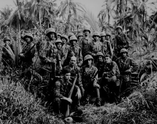 B&W Photo US Marines Bouganville 1944 WWII WW2 World War Two USMC PacificUnited States - 156437