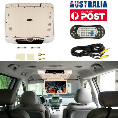 """15.6"""" DVD LCD Player Flip Down Roof Mount HDMI In Car Monitor Games MP5 12V AU"""