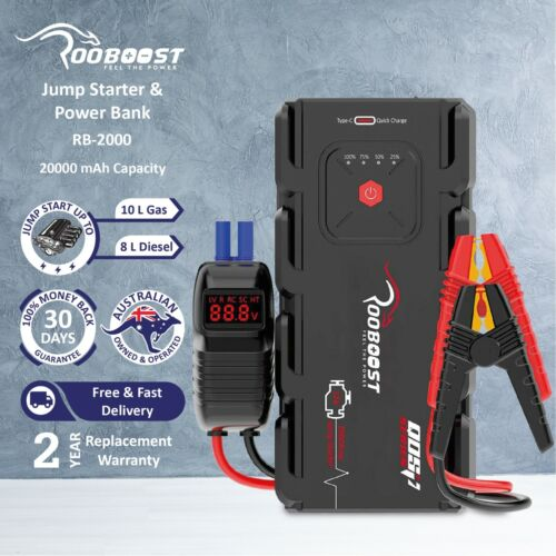 Portable 12 Volt Car Jump starter battery 2000A Power Bank Heavy duty booster AU