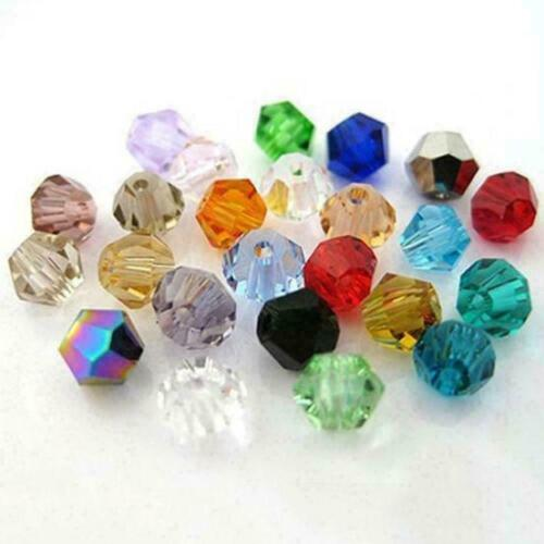 100pcs/bag Crystal Glass Faceted Loose Spacer Beads 3mm Jew Diy X5z2 J4k0
