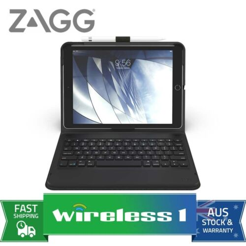 ZAGG Messenger Keyboard Folio for 10.2in iPad 7th/8th Gen Charcoal