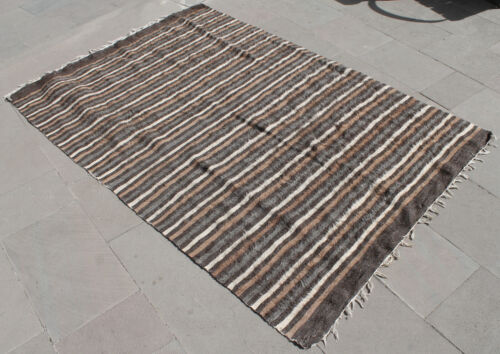 """Turkish Rug 51''x74"""" Hand Woven Siirt Mohair Rug 130x188cm NO DYES"""