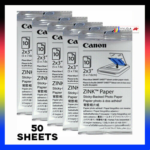 HP Zink Photo Paper for Sprocket Photo Printer 50 Sheets Pack 50 x 76mm 1RF42A