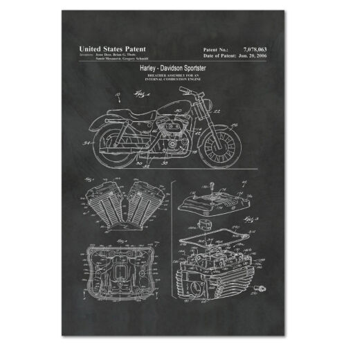 Harley Davidson Motorcycle 2006 Patent Poster - High Quality Prints