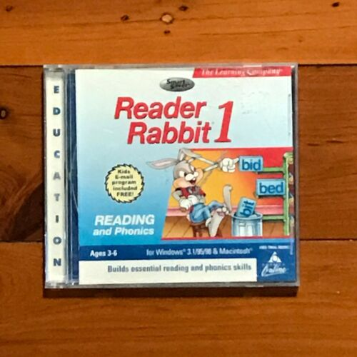 Reader Rabbit's 1 READING and PHONICS  Ages 3-6 CD - Windows & MAC