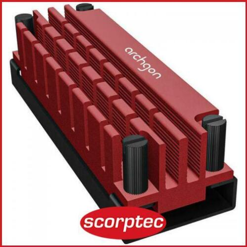 Archgon Red M.2 2280 SSD Heatsink with thermal pads