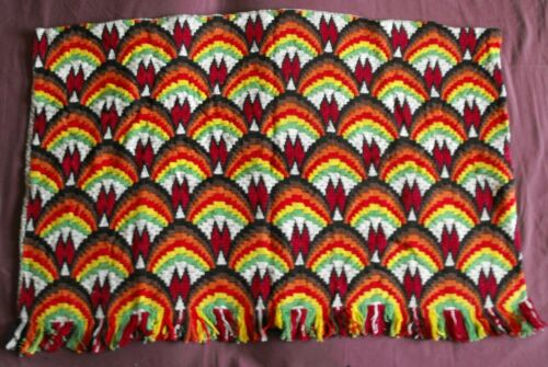 Beautiful Vintage Bargello Embroidery Tapestry 95cm/63cm(37''x 25'') #1977
