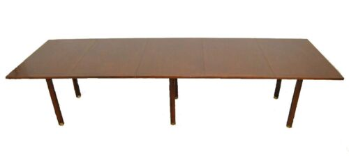 """Mid-Century Modern Walnut Dining Room Conference Table by Dunbar 130"""""""