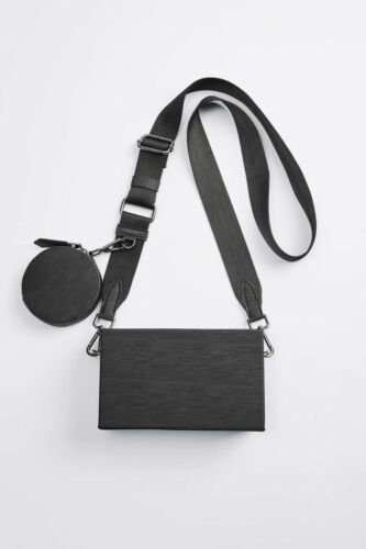 Rigid Mini Duo Crossbody Bag -  Zara Man  - Black - 3597/620  Harness