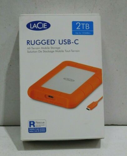 LaCie 2TB Rugged USB 3.1 Gen 1 Type-C External Portable Hard Drive