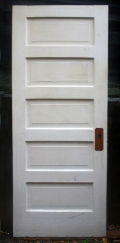 """13 available 30""""x78"""" Antique Vintage Old SOLID Wood Wooden Interior Door 5 Panel"""