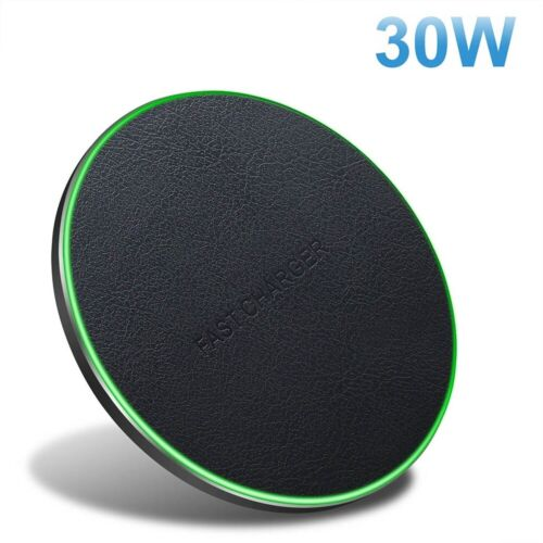 30W/20W/15W Qi Wireless Charger Fast Charging Pad Mat For iPhone 12 12Pro 11 XS