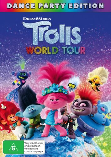 Trolls World Tour DVD Region 4 NEW <br/> *** PRE-ORDER *** EXPECTED DELIVERY DATE 09/12/2020