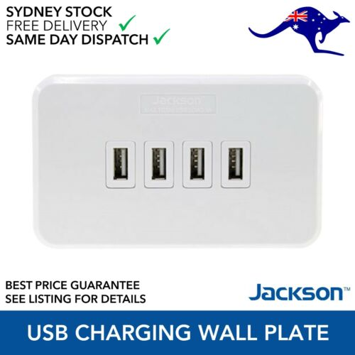 Jackson 4 Outlet USB Rapid Charging Wall Plate PT9804