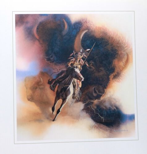 Bev Doolittle''RUNS WITH THUNDER'' WSS -  Camouflage ART LIMITED EDITION 3500