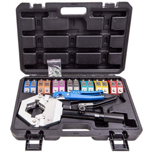 Hydraulic Hose Crimper Tool Kit Air Conditioner Hose Pipe Fittings Crimping Tool