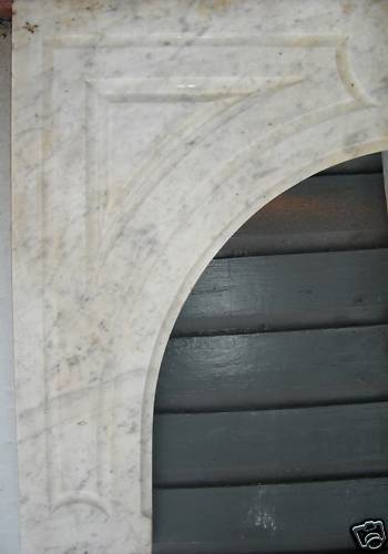 Antique CARRERRA MARBLE  Mantel #2