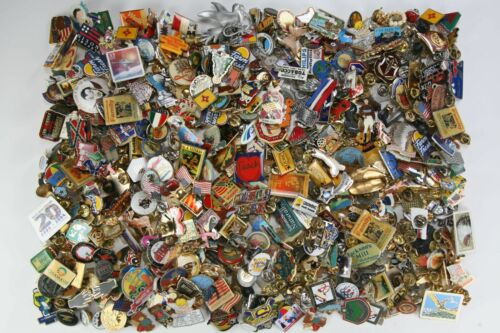 500 Very Assorted Collector's - Lapel - Hat Pins to Collect or Trade or ?