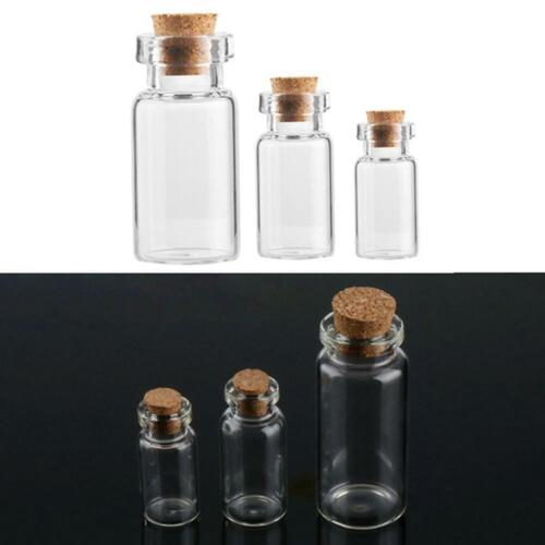 1pc Mini Small Glass Bottles With Cork Stopper Tiny X8e8 H6h4 Contain Vials M3c4